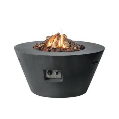 Happy Fire Composite Tűzasztal kúpos alakú fekete